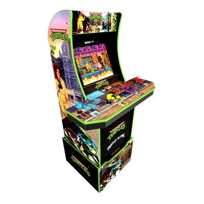 Arcade1Up Teenage Mutant Ninja Turtles Lisanslı Oyun Konsolu (4 Kişilik) - Thumbnail