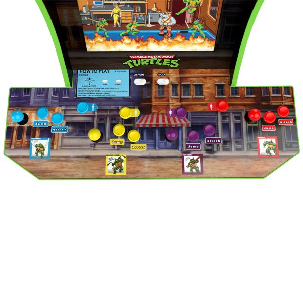 Arcade1Up Teenage Mutant Ninja Turtles Lisanslı Oyun Konsolu (4 Kişilik)