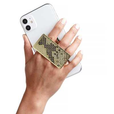 HANDL New York - HANDLstick ANIMAL GOLD SNAKESKIN Stand Özellikli Telefon Tutucu
