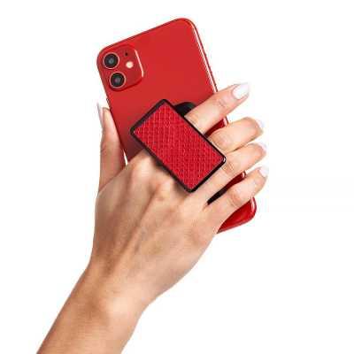 HANDL New York - HANDLstick ANIMAL RED SNAKESKIN Stand Özellikli Telefon Tutucu