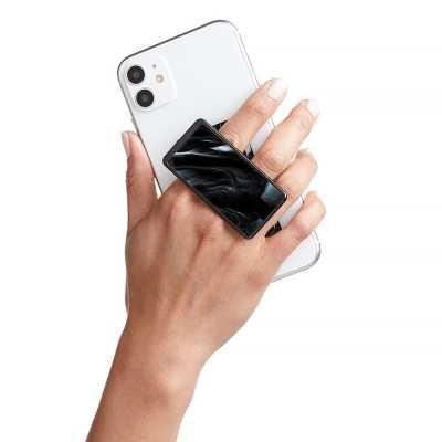 HANDL New York - HANDLstick BLACK MARBLE Stand Özellikli Telefon Tutucu