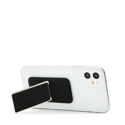 HANDLstick LEATHER BLACK/CHROME Stand Özellikli Telefon Tutucu - Thumbnail
