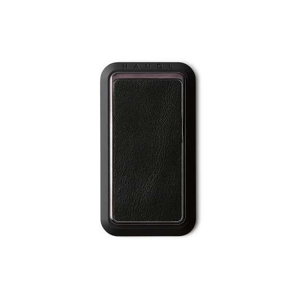 HANDLstick SMOOTH LEATHER BLACK Stand Özellikli Telefon Tutucu
