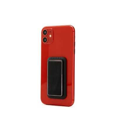 HANDLstick SMOOTH LEATHER BLACK Stand Özellikli Telefon Tutucu - Thumbnail