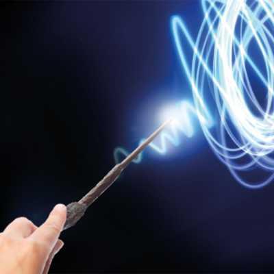 Harry Potter Lisanslı Uygulama Destekli Sihirli Işıklı Asa - Thumbnail