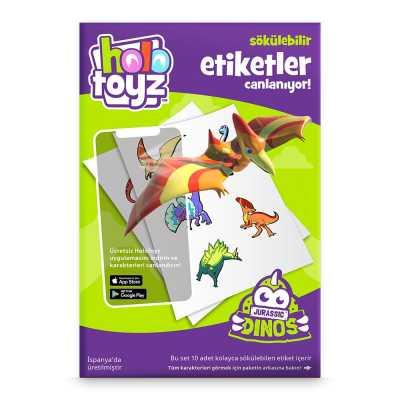 HOLOTOYZ - HoloToyz Sticker Jurassic Dinos AR Uyumlu Etiket