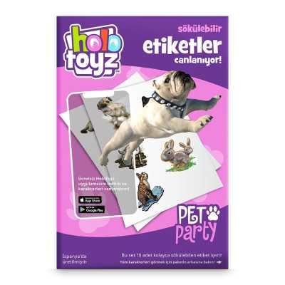 HOLOTOYZ - HoloToyz Sticker Pet Party AR Uyumlu Etiket
