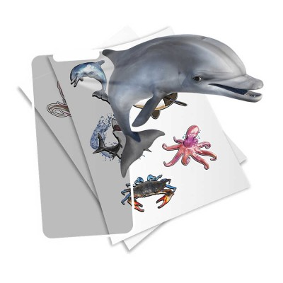 HoloToyz Sticker Super Sea Creatures AR Uyumlu Etiket - Thumbnail