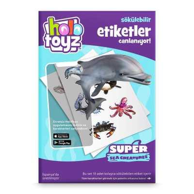 HOLOTOYZ - HoloToyz Sticker Super Sea Creatures AR Uyumlu Etiket