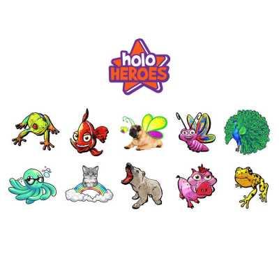 HoloToyz Tattoo Holo Heroes AR Uyumlu Geçici Dövme - Thumbnail