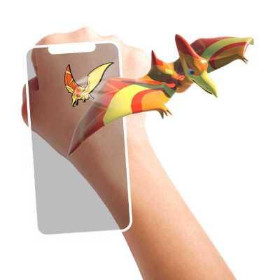HoloToyz Tattoo Jurassic Dinos AR Uyumlu Geçici Dövme - Thumbnail