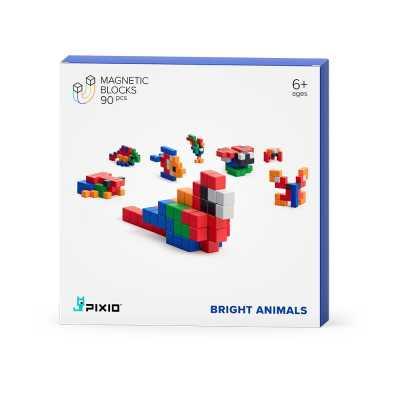 PIXIO - Pixio Bright Animals İnteraktif Mıknatıslı Manyetik Blok Oyuncak