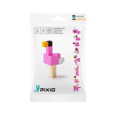 PIXIO - Pixio Flamingo İnteraktif Mıknatıslı Manyetik Blok Oyuncak