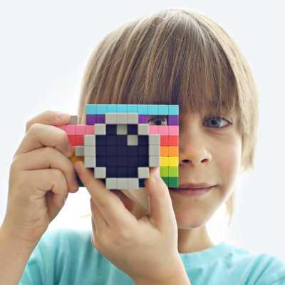 PIXIO-400 İnteraktif Mıknatıslı Manyetik Blok Oyuncak - Thumbnail