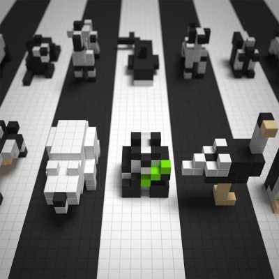 PIXIO - Pixio Black & White Animals İnteraktif Mıknatıslı Manyetik Blok Oyuncak (1)