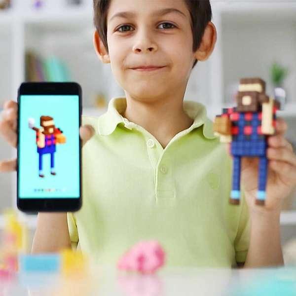 Pixio Happy Family İnteraktif Mıknatıslı Manyetik Blok Oyuncak