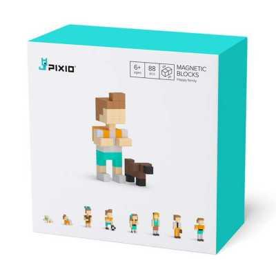 PIXIO - Pixio Happy Family İnteraktif Mıknatıslı Manyetik Blok Oyuncak
