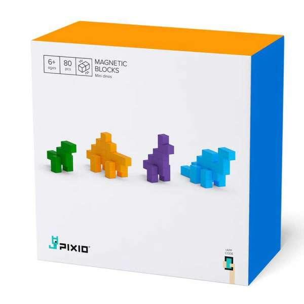 Pixio Mini Dinos İnteraktif Mıknatıslı Manyetik Blok Oyuncak