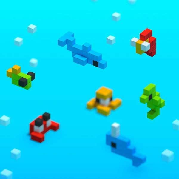 Pixio Mini Ocean İnteraktif Mıknatıslı Manyetik Blok Oyuncak