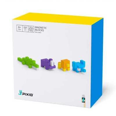 Pixio Mini Safari İnteraktif Mıknatıslı Manyetik Blok Oyuncak - Thumbnail