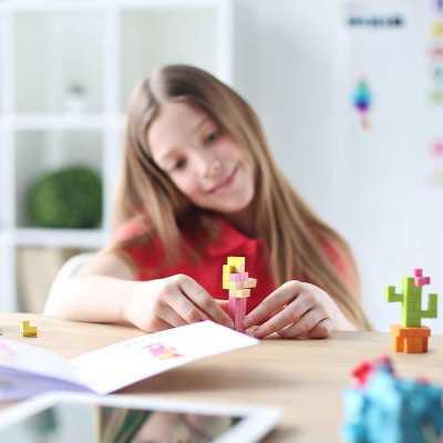 Pixio Flower İnteraktif Mıknatıslı Manyetik Blok Oyuncak - Thumbnail