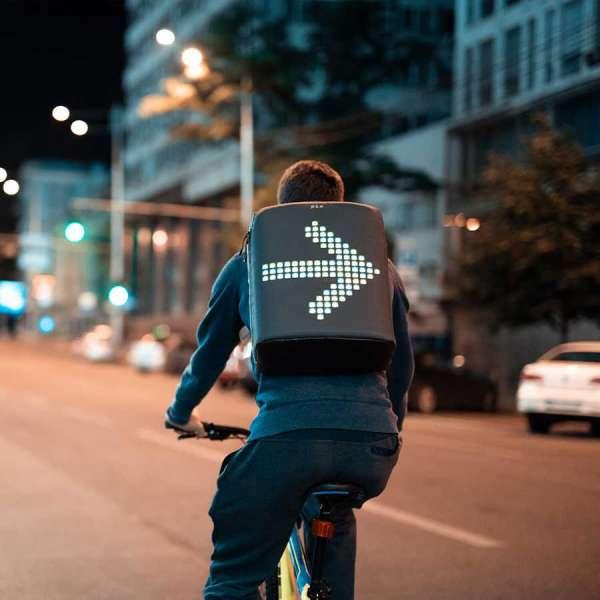 Pix Cyan Led Ekranlı Akıllı Sırt Çantası