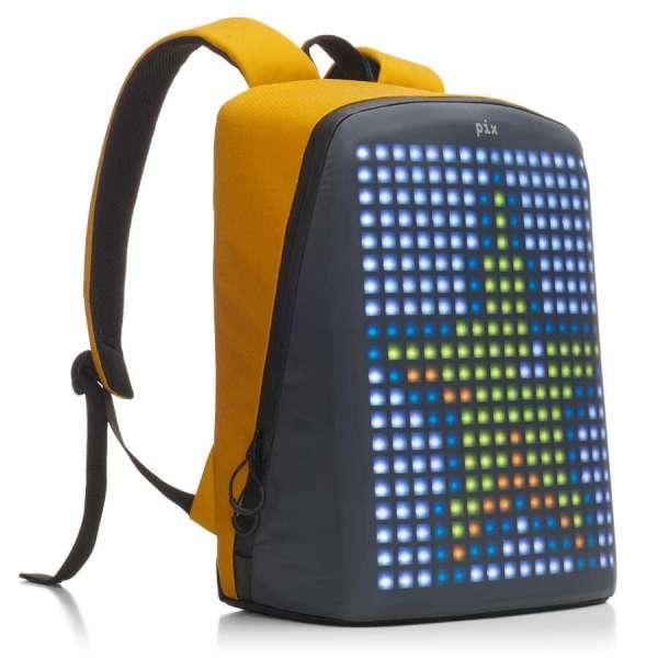 Pix Yellow Led Ekranlı Akıllı Sırt Çantası