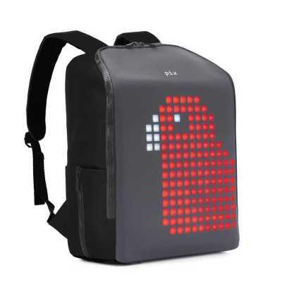 PIX - Pix Mini Black Led Ekranlı Akıllı Sırt Çantası
