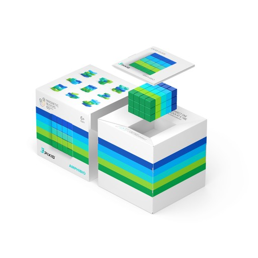 Pixio Abstract Amphibio İnteraktif Mıknatıslı Manyetik Blok Oyuncak