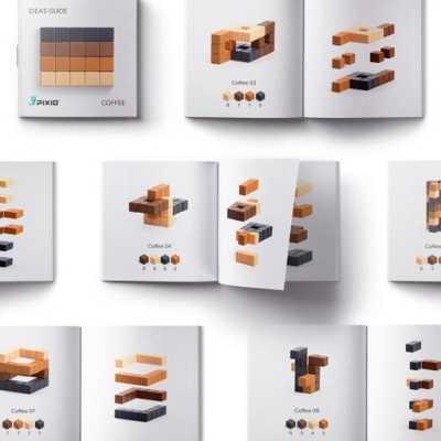 Pixio Abstract Coffee İnteraktif Mıknatıslı Manyetik Blok Oyuncak - Thumbnail