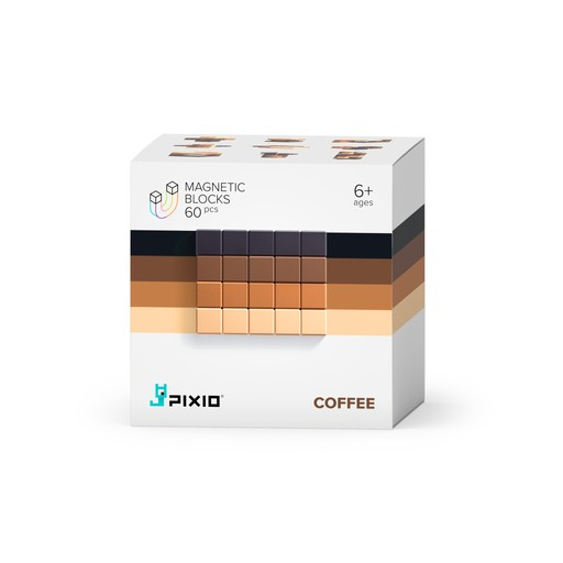 Pixio Abstract Coffee İnteraktif Mıknatıslı Manyetik Blok Oyuncak