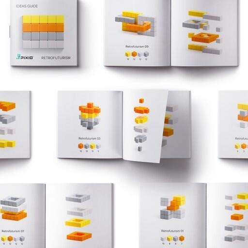 Pixio Abstract Retrofuturism İnteraktif Mıknatıslı Manyetik Blok Oyuncak