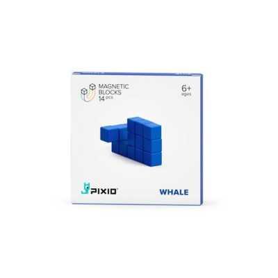 PIXIO - Pixio Blue Whale İnteraktif Mıknatıslı Manyetik Blok Oyuncak