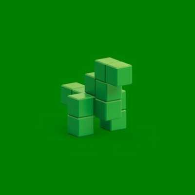 Pixio Green Dinosaur İnteraktif Mıknatıslı Manyetik Blok Oyuncak - Thumbnail