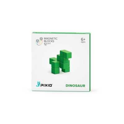 PIXIO - Pixio Green Dinosaur İnteraktif Mıknatıslı Manyetik Blok Oyuncak