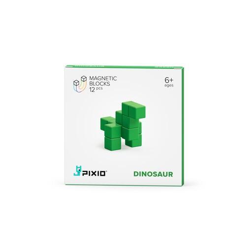 Pixio Green Dinosaur İnteraktif Mıknatıslı Manyetik Blok Oyuncak