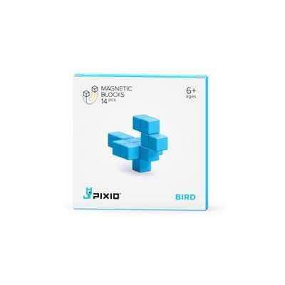 PIXIO - Pixio Light Blue Bird İnteraktif Mıknatıslı Manyetik Blok Oyuncak