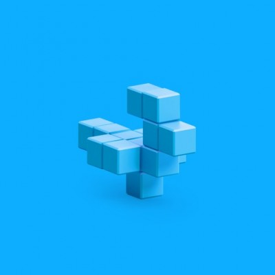 Pixio Light Blue Bird İnteraktif Mıknatıslı Manyetik Blok Oyuncak - Thumbnail