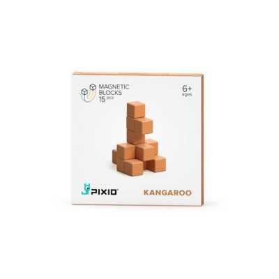 PIXIO - Pixio Light Brown Kangaroo İnteraktif Mıknatıslı Manyetik Blok Oyuncak