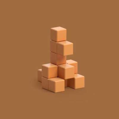 Pixio Light Brown Kangaroo İnteraktif Mıknatıslı Manyetik Blok Oyuncak - Thumbnail