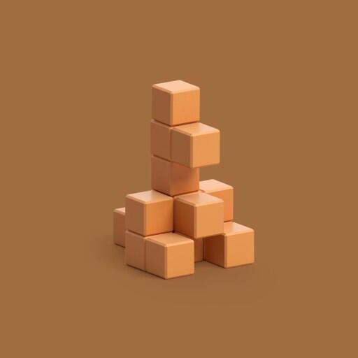 Pixio Light Brown Kangaroo İnteraktif Mıknatıslı Manyetik Blok Oyuncak