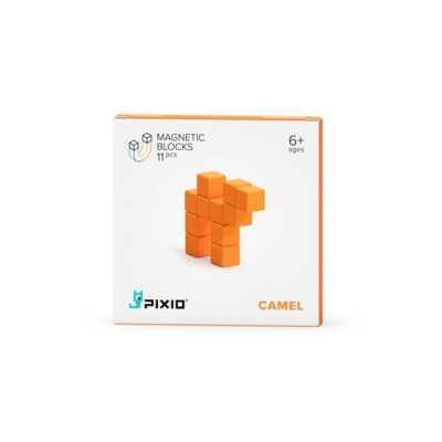 PIXIO - Pixio Orange Camel İnteraktif Mıknatıslı Manyetik Blok Oyuncak