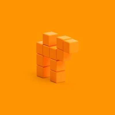 Pixio Orange Camel İnteraktif Mıknatıslı Manyetik Blok Oyuncak - Thumbnail