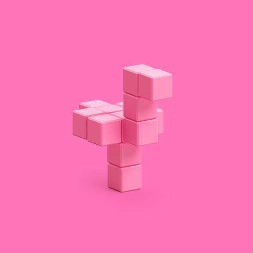 Pixio Pink Ostrich İnteraktif Mıknatıslı Manyetik Blok Oyuncak