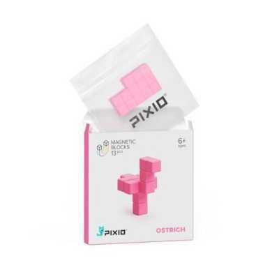 Pixio Pink Ostrich İnteraktif Mıknatıslı Manyetik Blok Oyuncak - Thumbnail