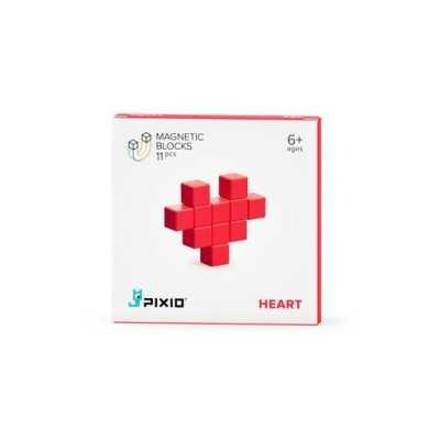 PIXIO - Pixio Red Heart İnteraktif Mıknatıslı Manyetik Blok Oyuncak