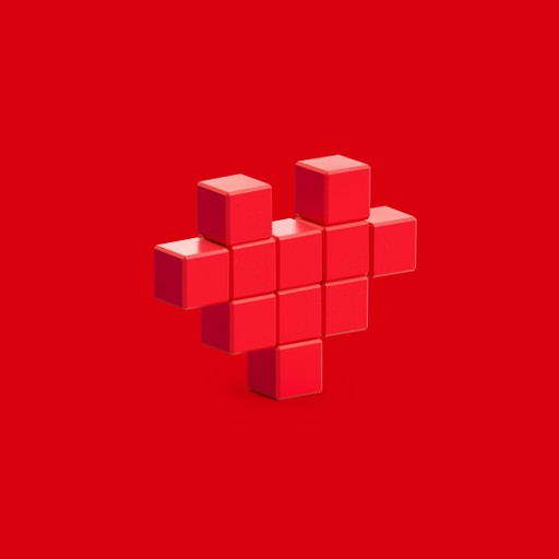 Pixio Red Heart İnteraktif Mıknatıslı Manyetik Blok Oyuncak