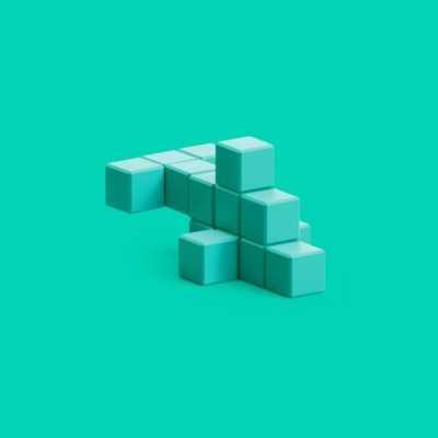 Pixio Turquose Dolphin İnteraktif Mıknatıslı Manyetik Blok Oyuncak - Thumbnail