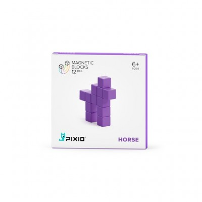 PIXIO - Pixio Violet Horse İnteraktif Mıknatıslı Manyetik Blok Oyuncak