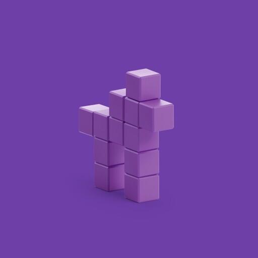 Pixio Violet Horse İnteraktif Mıknatıslı Manyetik Blok Oyuncak